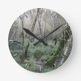 Landscape cork oaks and nature in Doñana, Spain Round Clock