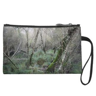 Landscape cork oaks and nature in Doñana, Spain Suede Wristlet Wallet