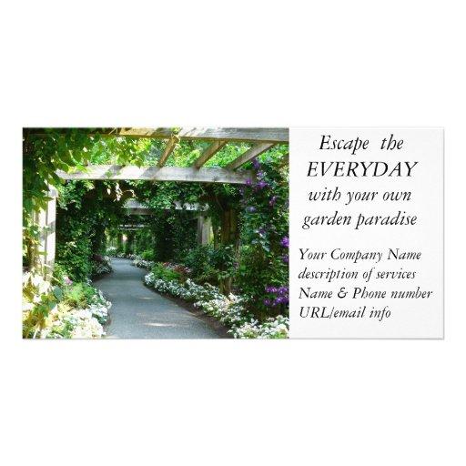 Landscape Design Garden Structure Business Photo Card Zazzle