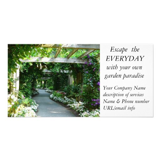 Landscape design garden structure business photo card zazzle for Garden design company