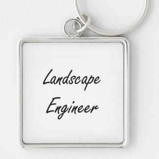 Landscape Engineer Artistic Job Design Silver-Colored Square Keychain