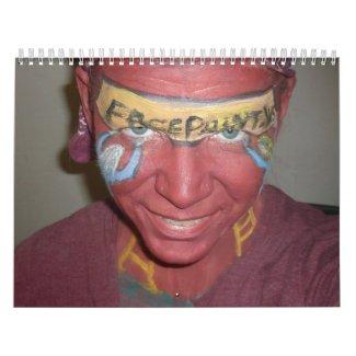 Landscape Facepaint Calendar