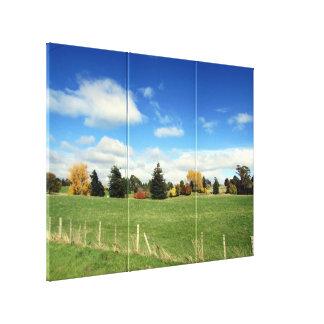 landscape farm triptych canvas print