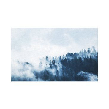 USA Themed Landscape | Fog | Mountain Canvas Print
