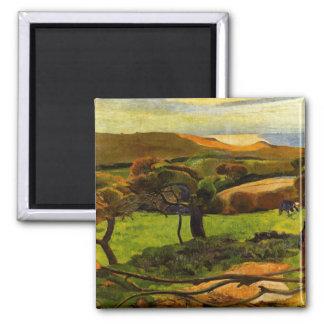 Landscape From Bretagne by Paul Gauguin Magnet