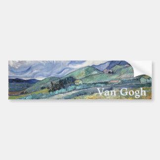 Landscape from Saint-Remy by Vincent Van Gogh Car Bumper Sticker