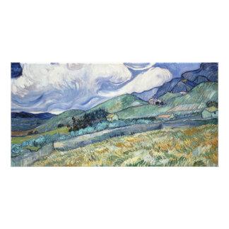 Landscape from Saint-Remy by Vincent Van Gogh Card