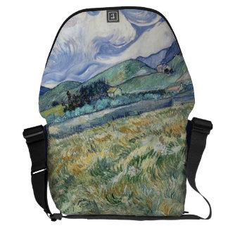 Landscape from Saint-Remy by Vincent Van Gogh Courier Bag