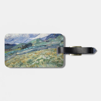 Landscape from Saint-Remy by Vincent Van Gogh Bag Tags