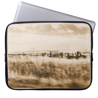 Landscape from the window of an automobile laptop sleeve