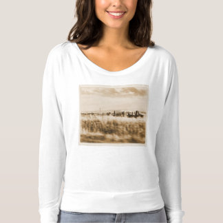Landscape from the window of an automobile t-shirt