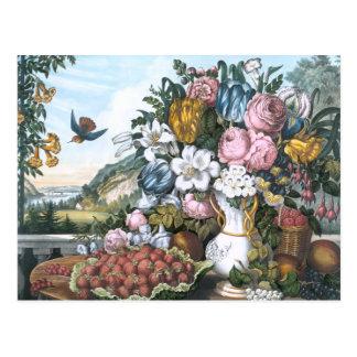 Landscape, Fruit and Flowers Postcard