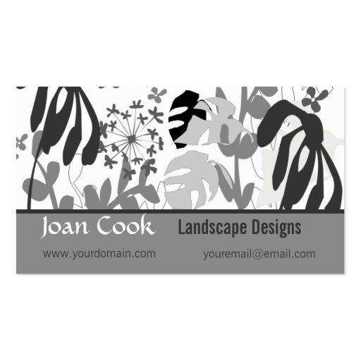 Landscape garden designs business card zazzle for Garden design business