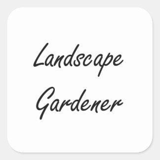 Landscape Gardener Artistic Job Design Square Sticker