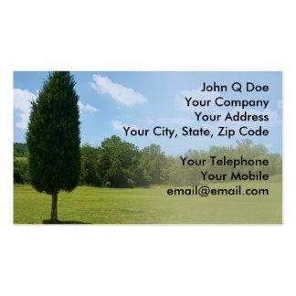Landscape Gardener land management Business Card