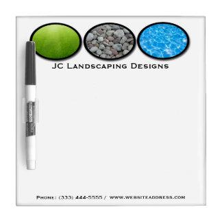 Landscape Grass Rocks Water Dry Erase Board