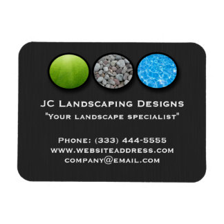 Landscape Grass Rocks Water Magnets