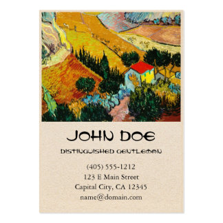 Landscape House and Ploughman  Vincent Van Gogh Large Business Cards (Pack Of 100)