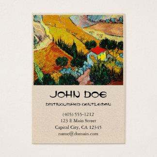Landscape House and Ploughman  Vincent Van Gogh Business Card