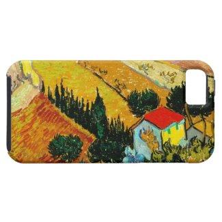 Landscape House and Ploughman Vincent Van Gogh iPhone 5 Case
