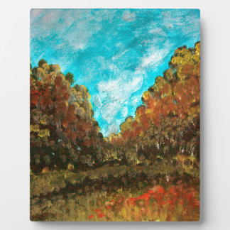 Landscape impressionism design plaque