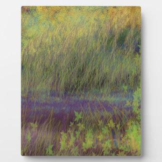 Landscape impressionism design display plaque