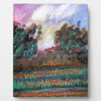 Landscape impressionism design photo plaques