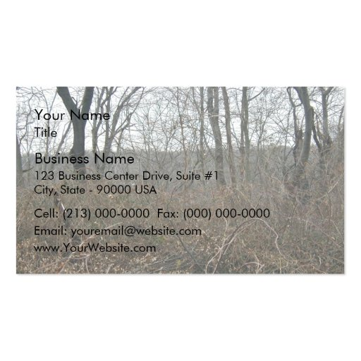 Landscape in forest business card