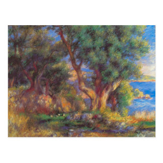 Landscape in Menton by Pierre Renoir Postcard
