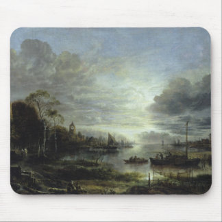 Landscape in Moonlight Mouse Pad