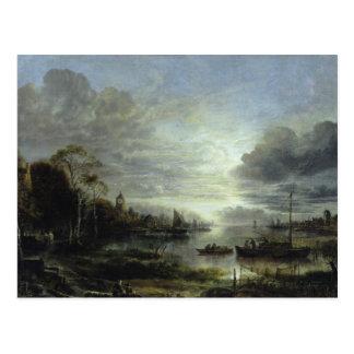 Landscape in Moonlight Postcard
