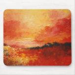 Landscape in Oranges Mousepad