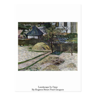 Landscape In Osny By Eugene Henri Paul Gauguin Postcard