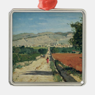 Landscape in Provence Christmas Tree Ornament