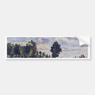 Landscape In The Ile De France By Paul Cézanne Car Bumper Sticker