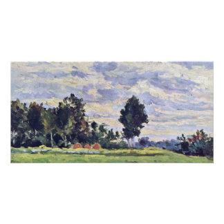 Landscape In The Ile De France By Paul Cézanne Photo Card