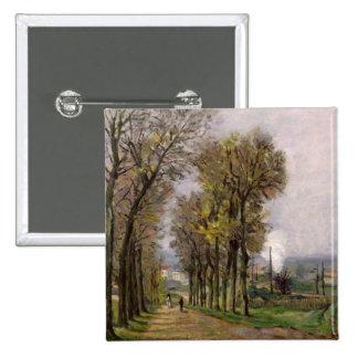 Landscape in the Ile de France, c.1878 Pinback Button