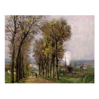 Landscape in the Ile de France, c.1878 Postcard