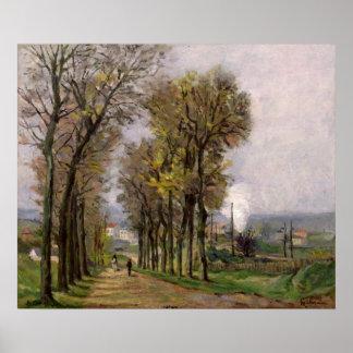 Landscape in the Ile de France, c.1878 Poster