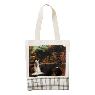 Landscape in the night zazzle HEART tote bag