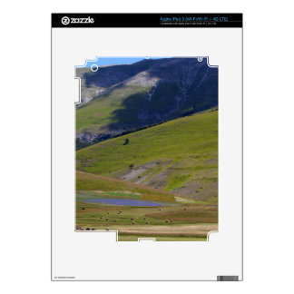 Landscape in the Sibillini Mountains in Italia iPad 3 Decal