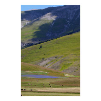 Landscape in the Sibillini Mountains in Italia Stationery