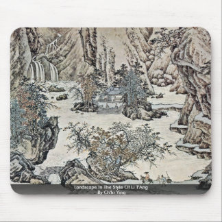 Landscape In The Style Of Li T'Ang By Ch'Iu Ying Mousepads