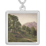 Landscape in Upper Bavaria, 1836 Silver Plated Necklace