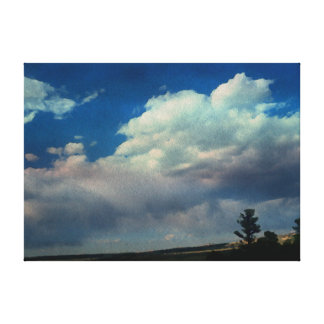 Landscape in Watercolor by Leslie Harlow Stretched Canvas Print