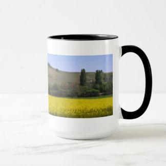 Landscape in yellow mug