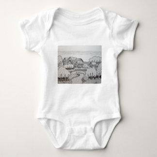 Landscape Inking 3 Baby Bodysuit