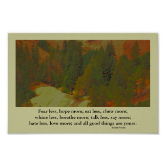 landscape inspiration and proverb print