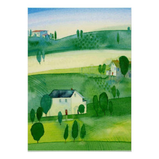 landscape Ireland watercolor Poster