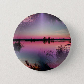 landscape lake at sunset button